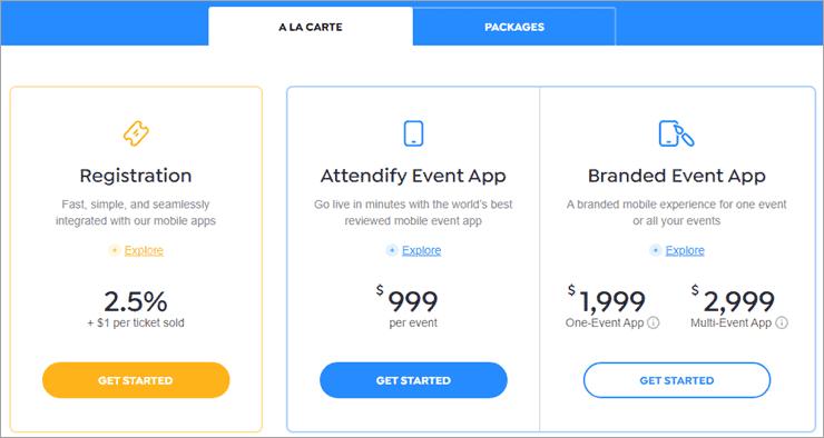 Attendify pricing