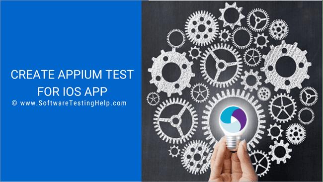Create Appium Test for an iOS App
