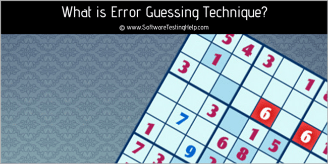 Error guessing technique