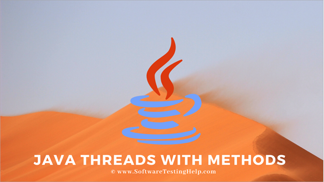 Java Threads with Methods