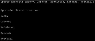 Java set iterator