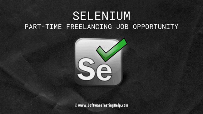 Selenium part time job