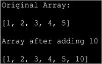 Adding an element to an Array