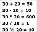 Arithmetic Program Output