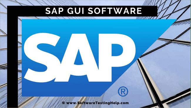 Basic Navigation of SAP GUI Software