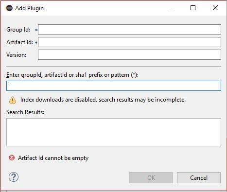 Add Plugin window