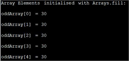 Fill method of Arrays_class