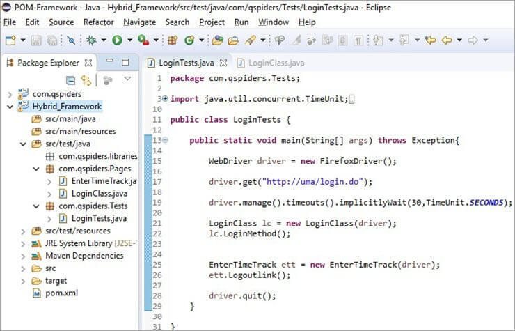 Framework Creation in Java Eclipse
