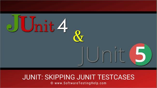 JUnit ignore test cases