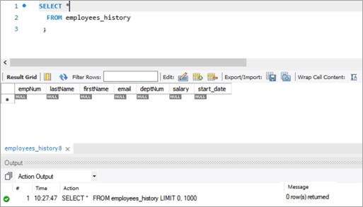 MySQL DELETE Entire Data from Table_Result