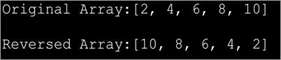 Reverse an Array in Java