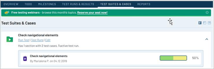 TestRail - Test Suites & Cases