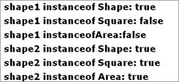 Type Comparison Output