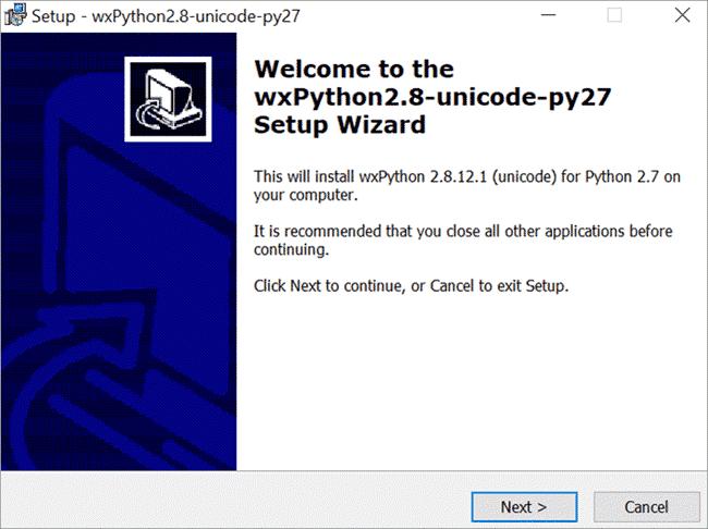 WxPython Installation