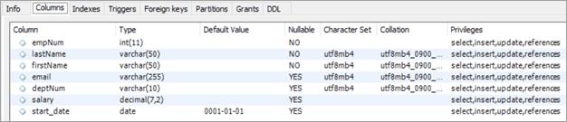 MYSQL Delete Example: Employees Table