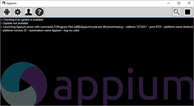start the Appium Server