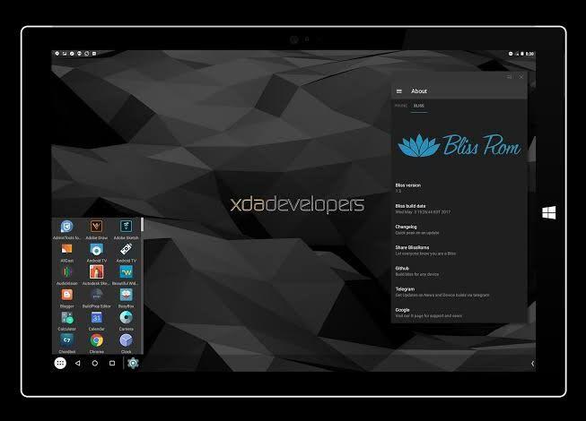 Bliss emulator dashboard