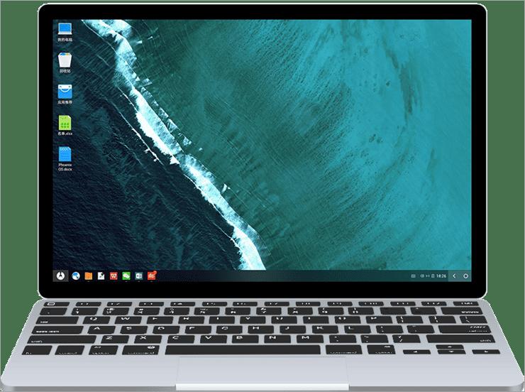 Phoenix OS dashboard