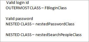 console window - nested class