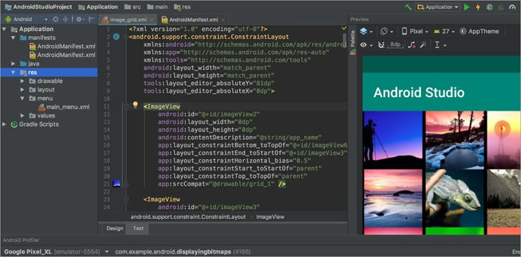 2. Android Studio Emulator dashboard
