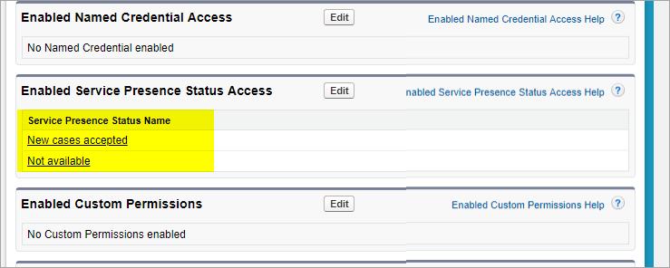 Service presence status added