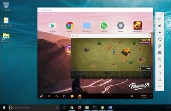 Remix OS Player dashboard