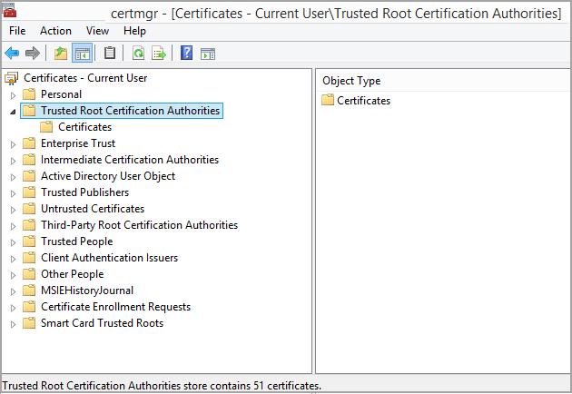 Certificates Folder