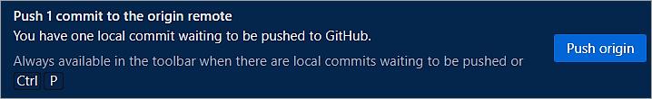 Push 1 commit to the Origin Remote