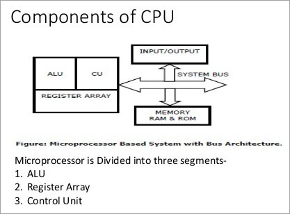 Components of a microprocessor