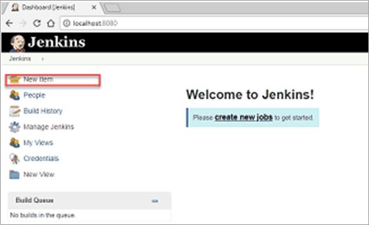 Figure.1 New Item in Jenkins Dashboard