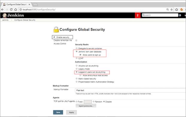 Figure2 Settings in configure global security