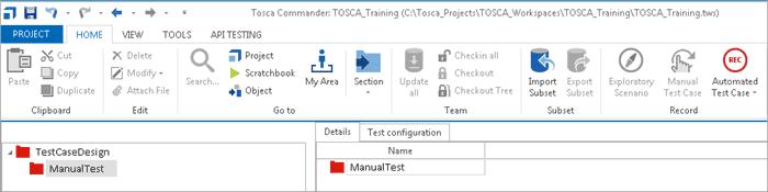 TestCase Design folder