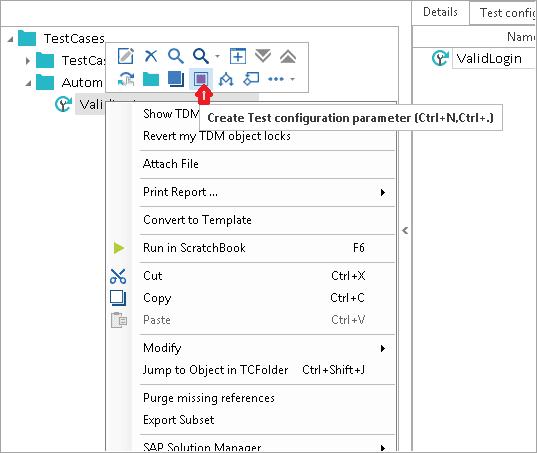 Test config parameter