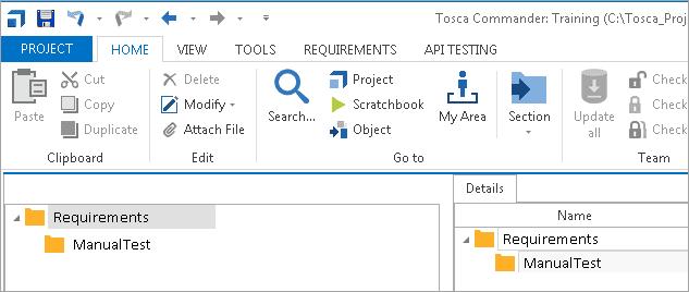 Requirement Folder