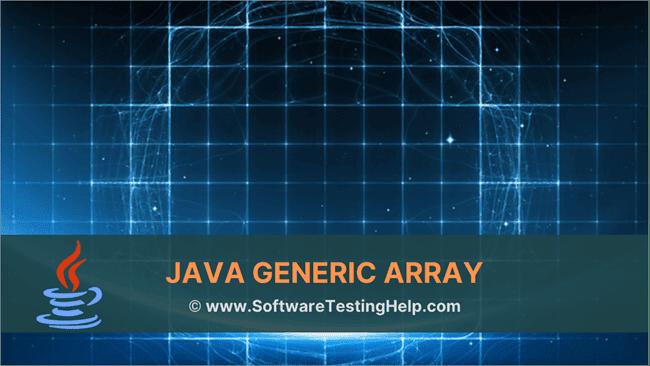Java Generic Array