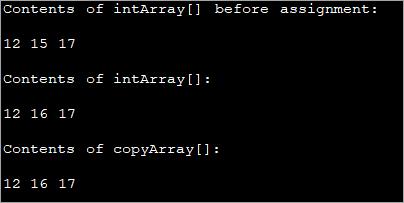 Java Copy Array using for loop