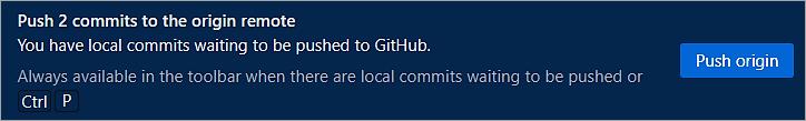 Push2 Commits to the origin remote