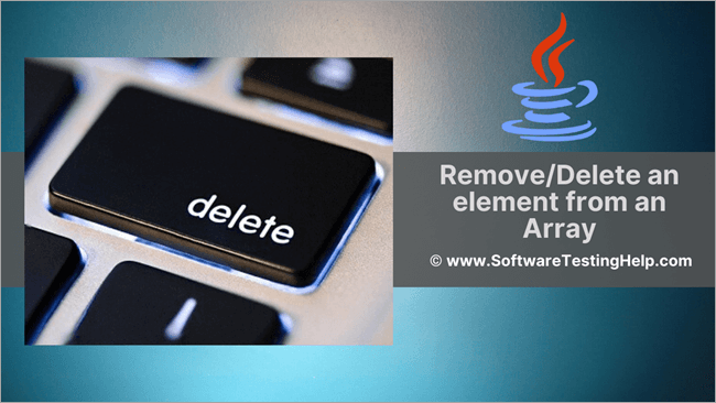 Remove Delete an element from an Array