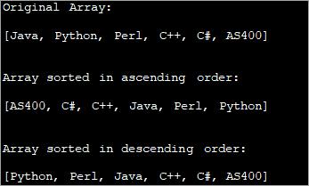 Sort string array in alphabetical order