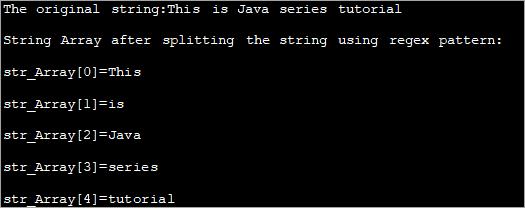 Using regex pattern - output