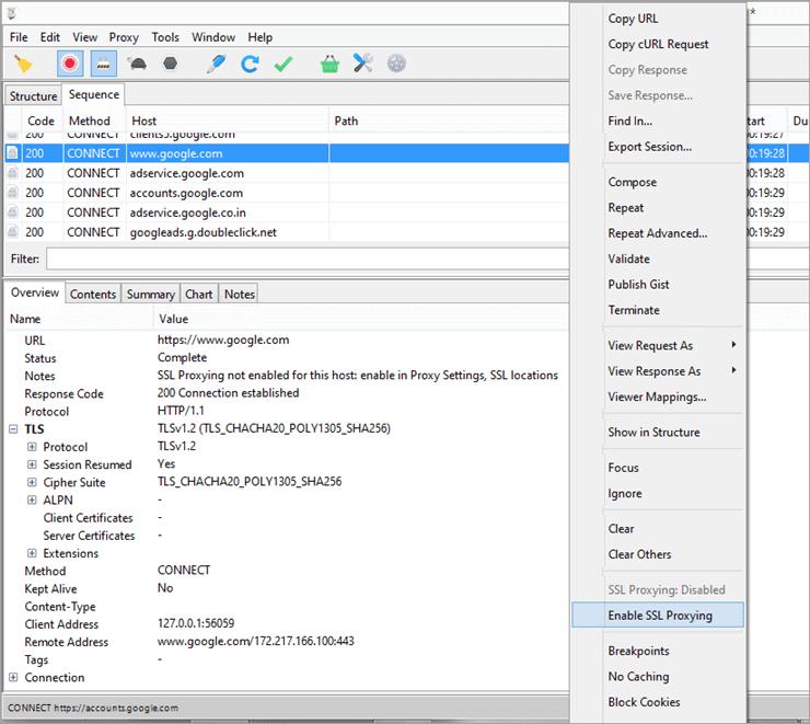 Enable SSL Proxy