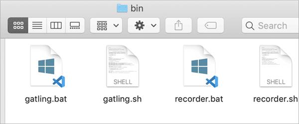file structure of the bin folder