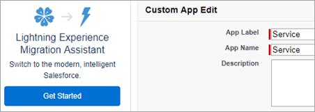 Service app name