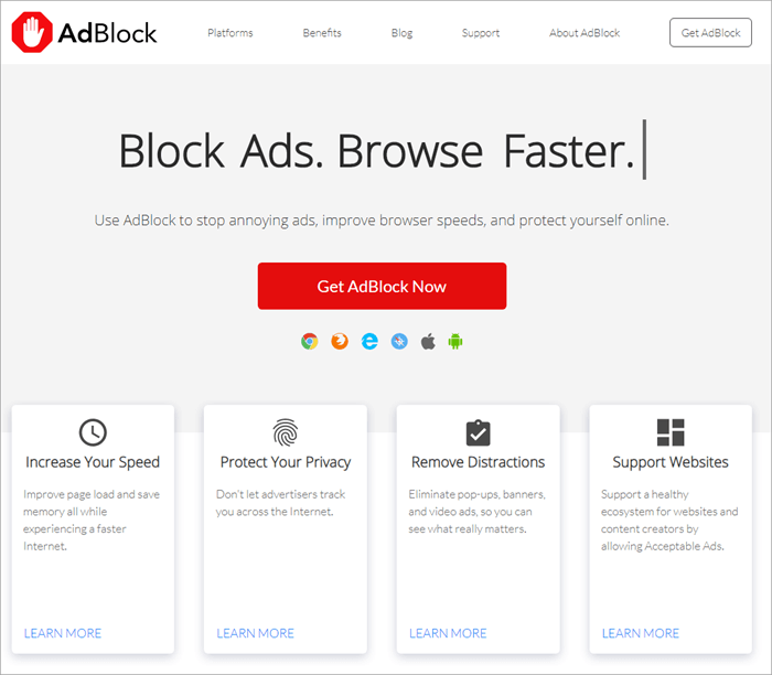 AdblockSurf the web without annoying pop ups and ads