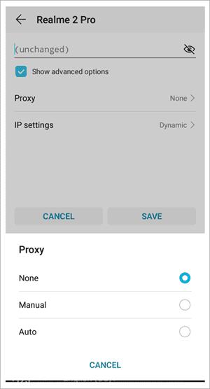 Proxy as Manual