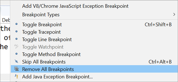 Remove All Breakpoints