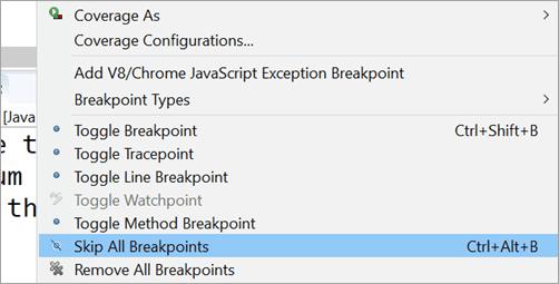 Skip Breakpoint