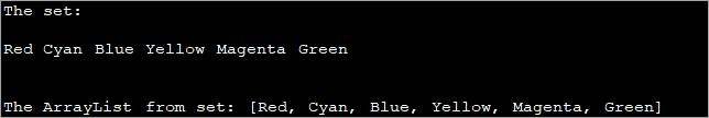 Using the addAll method_convert set to list