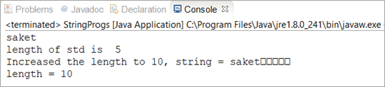 increase String size in Java
