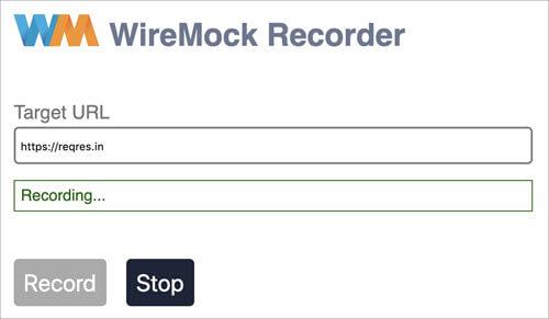 Wiremock Recorder - Start